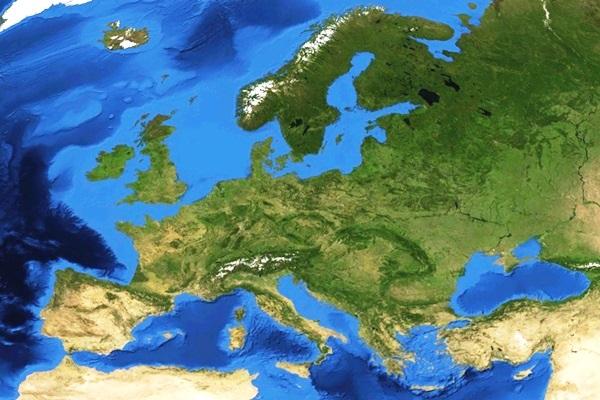 Mapa de Europa satelital