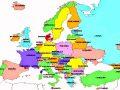 Mapa de Europa después de la caída del Muro de Berlín