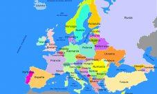 Mapa de Europa para niños