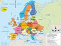 Mapa de Europa con sus países y capitales