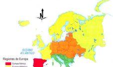 Mapa de regiones naturales de Europa