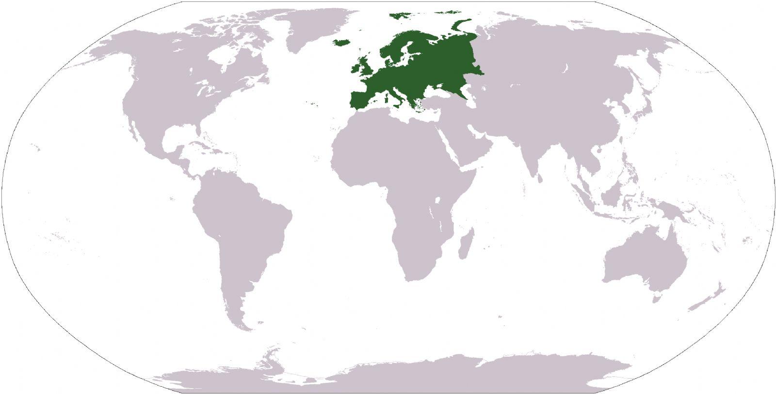 Mapa de ubicación geográfica de Europa